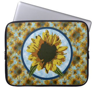 Painted Sunflower Laptop Sleeve