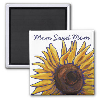 Painted Sunflower Mom Sweet Mom Magnet