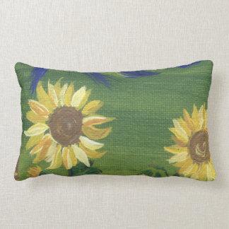 painted sunflower pillow
