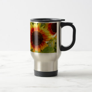 Painted Sunflower. Travel Mug
