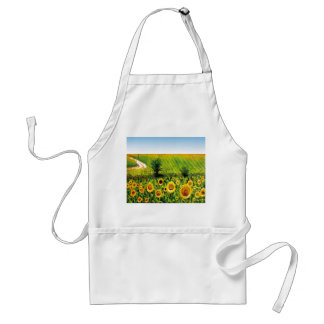 painted sunflowers adult apron