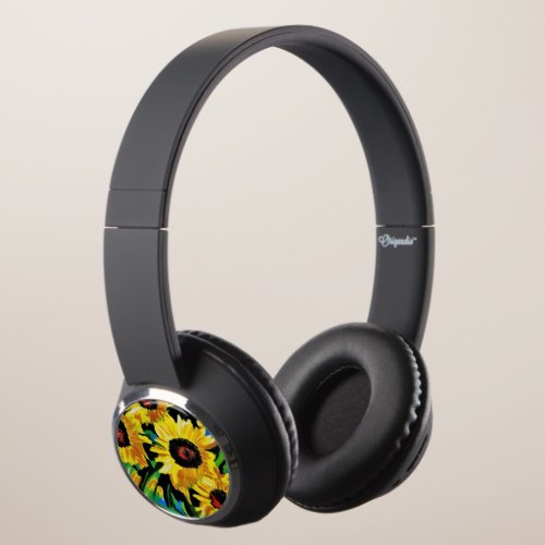 Painted Sunflowers Custom  Bluetooth Headphones