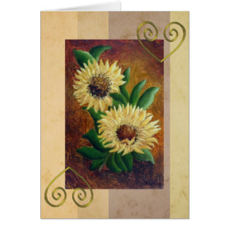 Painted sunflowers for any occassion card