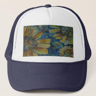 painted sunflowers trucker hat