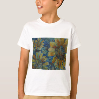 Painted Sunflowers, with polk-a-dots T-Shirt