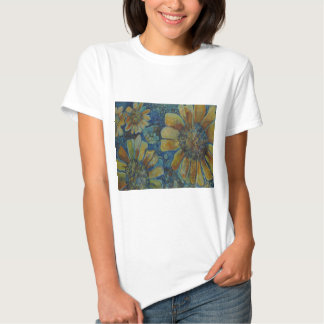 Painted Sunflowers, with polk-a-dots Tshirt