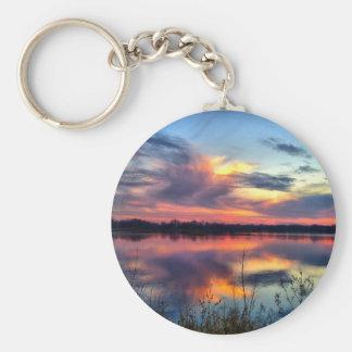 Painted Sunset Keychain
