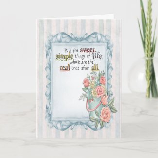 Painted Sweet & Simple Things Greeting Card