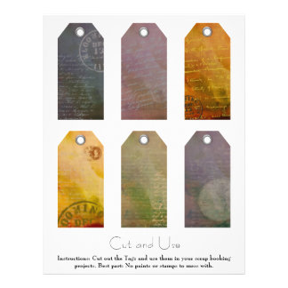 Painted Tags for Scrap Bookers 8.5x11 Flyer