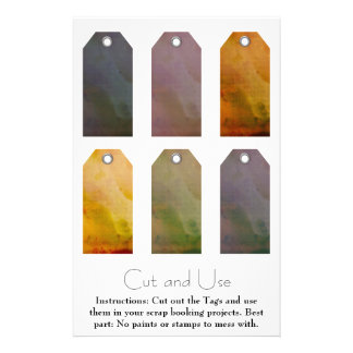 Painted Tags for Scrap Bookers Full Color Flyer