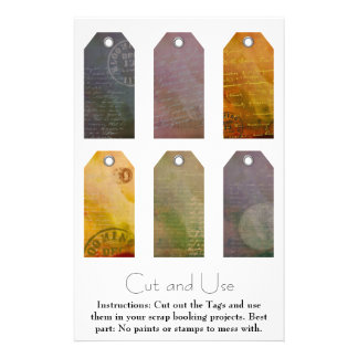 Painted Tags for Scrap Bookers Custom Flyer