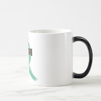 Painted Teal Cancer Survivor  Ribbon Magic Mug