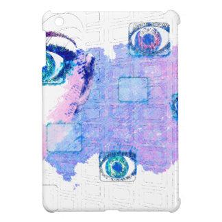 Painted techno human iPad mini cover