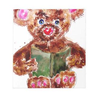 Painted Teddy Bear Note Pad