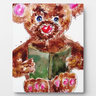 Painted Teddy Bear Plaque