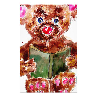 Painted Teddy Bear Stationery
