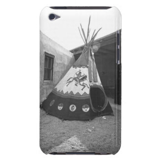 Painted tepee on courtyard, (B&W) iPod Touch Case