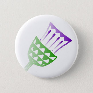 Painted Thistle Button