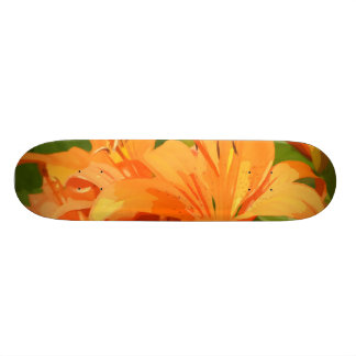 Painted Tiger Lily Custom Skate Board