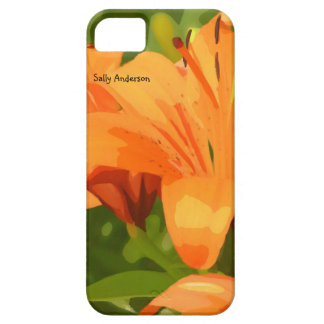 Painted Tiger Lily Garden iPhone SE/5/5s Case