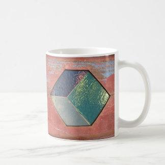 painted tiles coffee mug