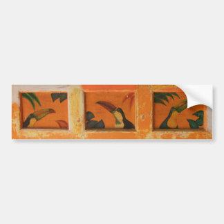 Painted toucans in Belize Bumper Sticker