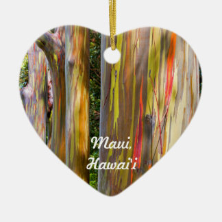 Painted Trees and Bamboo Forest, Maui Ceramic Ornament