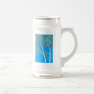 painted trees beer stein