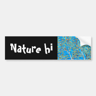 painted trees bumper sticker