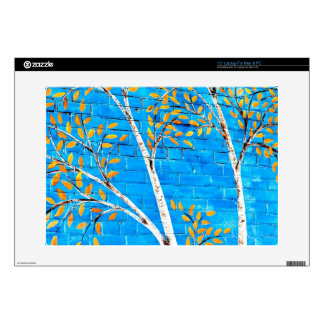 painted trees laptop decal