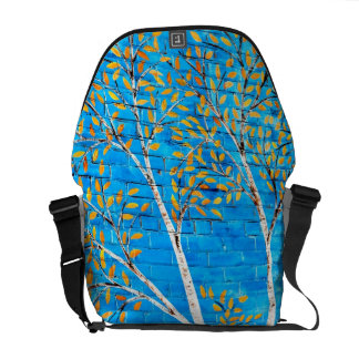 painted trees messenger bag