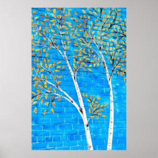 painted trees print