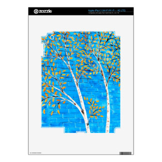 painted trees skins for iPad 3
