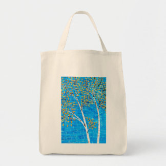 painted trees tote bag