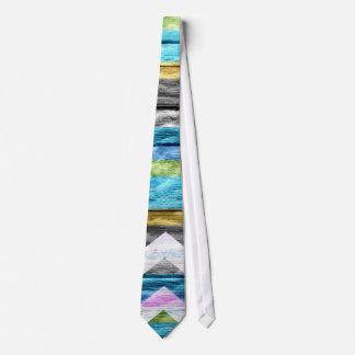 Painted Trendy Chevron Stripes Pattern #9 Tie