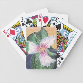 Painted Trillium Bicycle Playing Cards