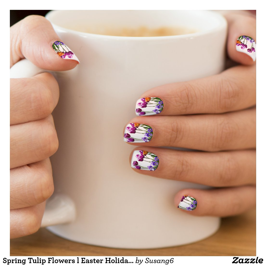 Painted Tulip Flowers l Holiday Minx Nail Art