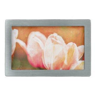 Painted Tulips Belt Buckles