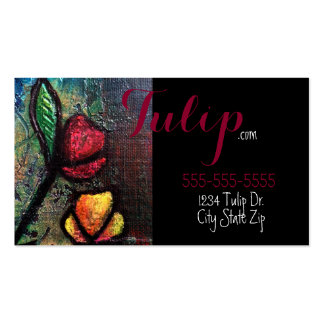 Painted Tulips Business Cards
