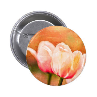 Painted Tulips Button