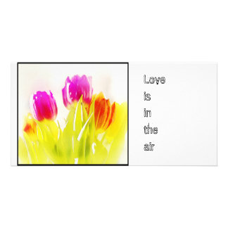 Painted Tulips, Photo Card