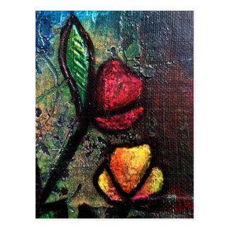 Painted Tulips Postcard
