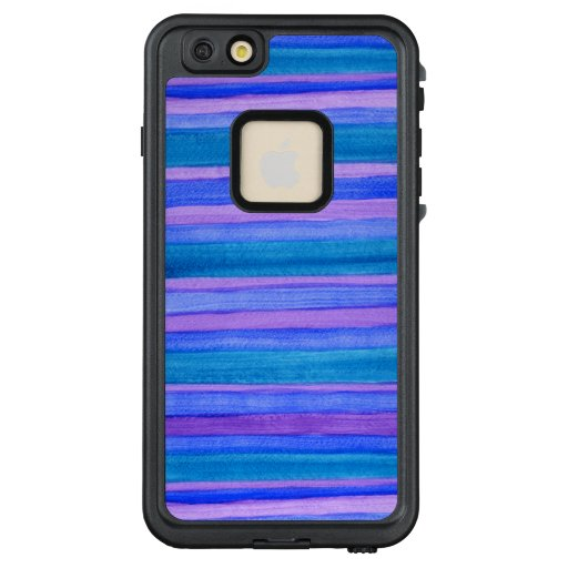 Painted Turquoise, Blue, Violet Stripes LifeProof® FRĒ® iPhone 6/6s Plus Case