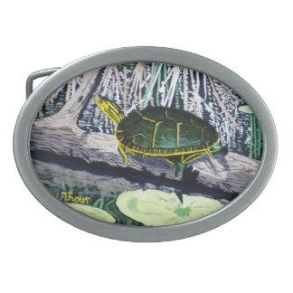 Painted Turtle Belt Buckle