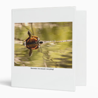 Painted Turtle with Attitude Vinyl Binder