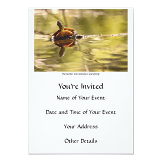 Painted Turtle with Attitude Card