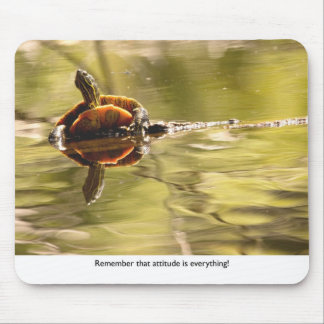 Painted Turtle with Attitude Mouse Pad
