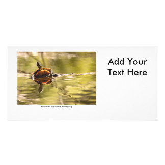 Painted Turtle with Attitude Photo Card
