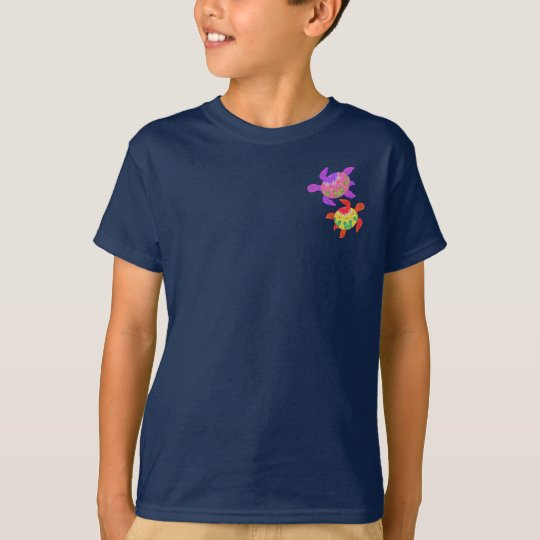 Painted Turtles 2-Sided Kids' Dark Shirts