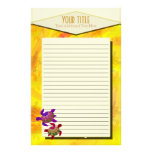 Painted Turtles Lined Stationery
